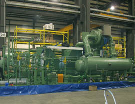 Compressor Package during Production