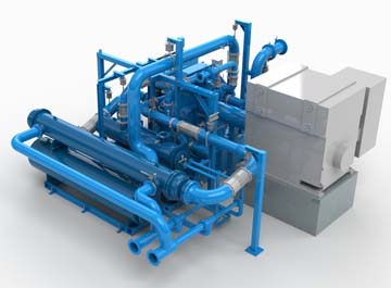 Compressor Package 3D Model Rendering
